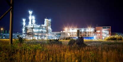 Chemical plant by night