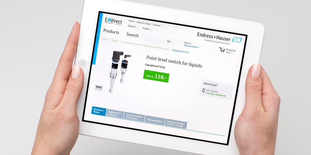 Selecting basic field instruments or system components online easily and quickly